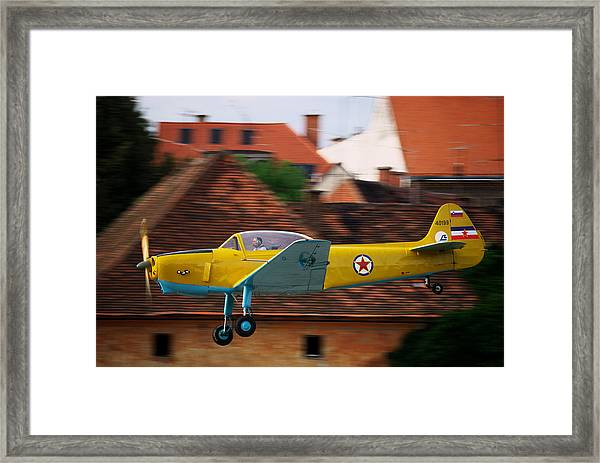 Flying Low Framed Print