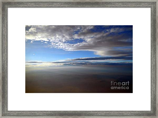 Flying Over Southern California Framed Print