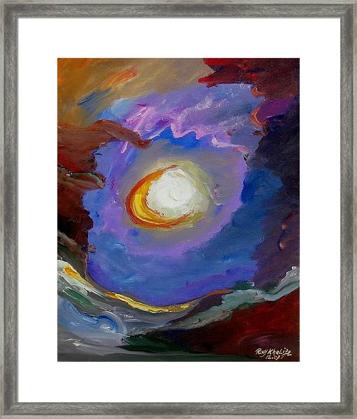 Framed Print featuring the painting Focus by Ray Khalife