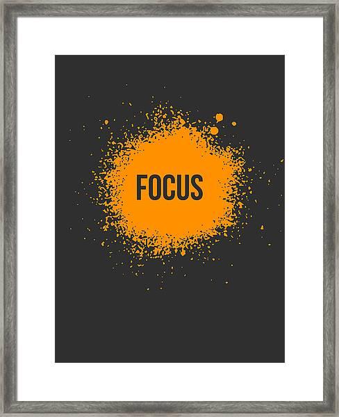 Focus Splatter Poster 3 Framed Print