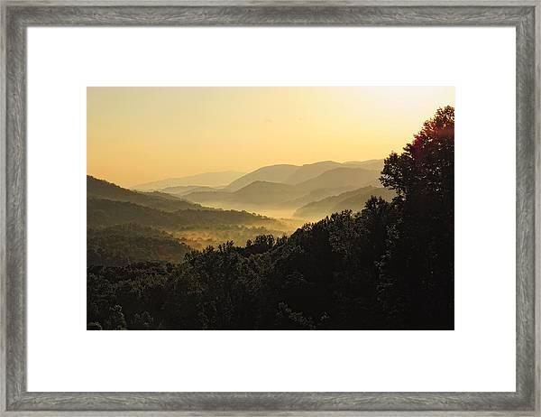 Fog In The Valleys Framed Print