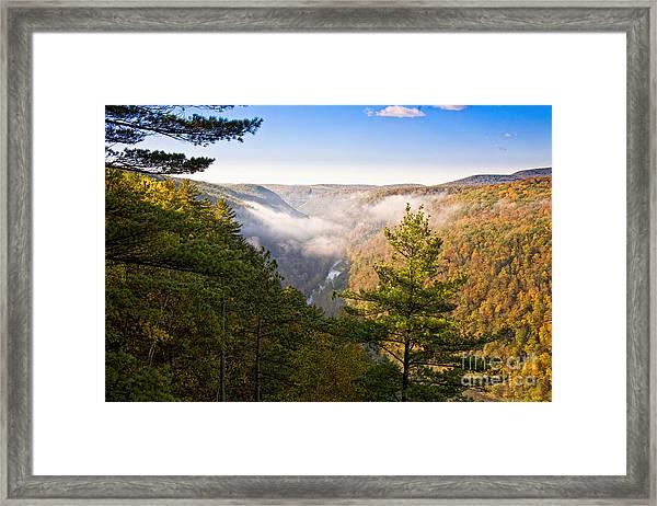 Fog Over The Canyon Framed Print