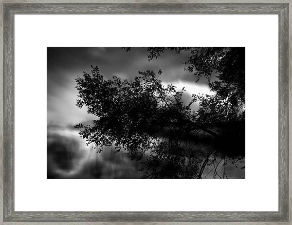Foggy Autumn Morning On The River Framed Print