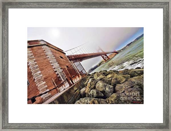 Foggy Gates Framed Print