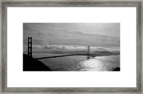 Foggy Golden Gate Bridge Framed Print