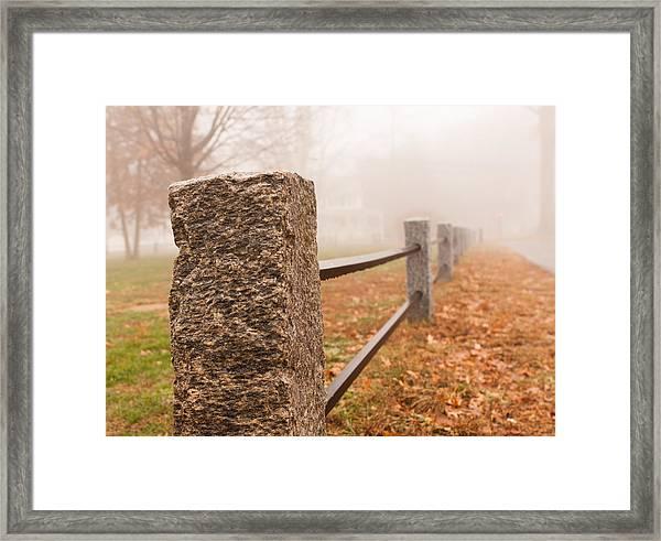 Foggy Morning In Ellington Framed Print