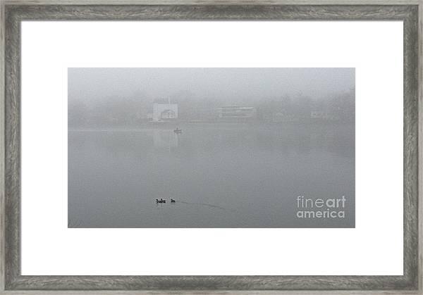 Foggy Morning In Paradise - 01 Framed Print