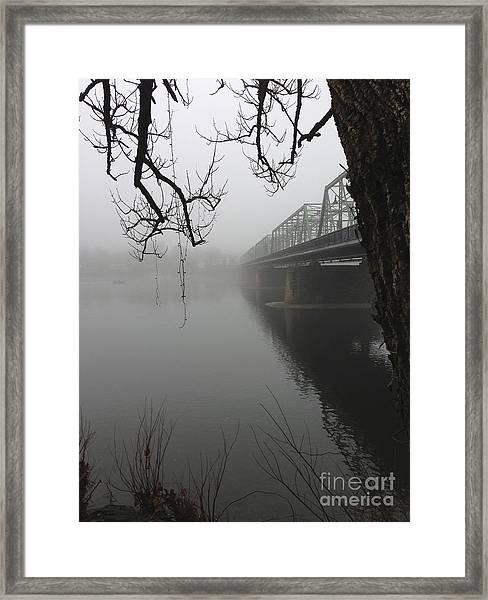 Foggy Morning In Paradise - The Bridge Framed Print