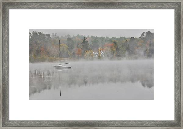 Foggy Morning Small Lake, New Hampshire Framed Print by Darrell Gulin
