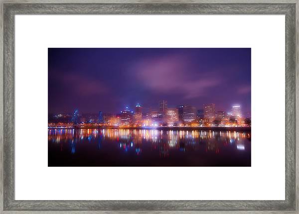 Foggy Portland Nights Framed Print