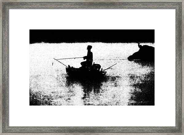 Framed Print featuring the photograph Foggy River Dawn by William Jobes