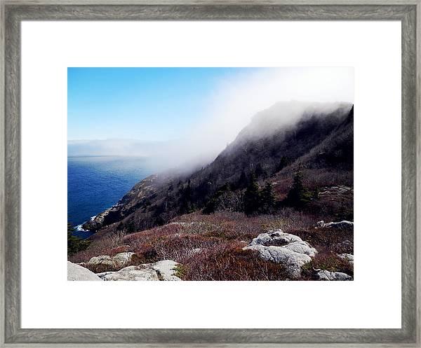 Foggy Seashore Framed Print