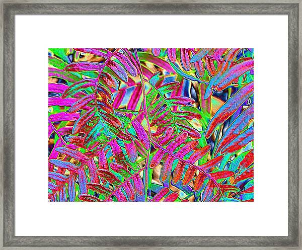 Foiled Ferns Framed Print