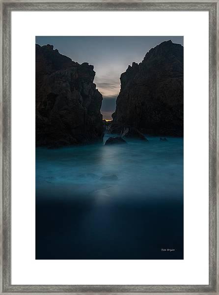 Follow The Light.... Big Sur Framed Print