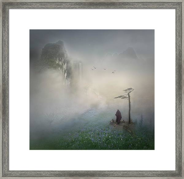 Follow The River To Where It Starts Framed Print