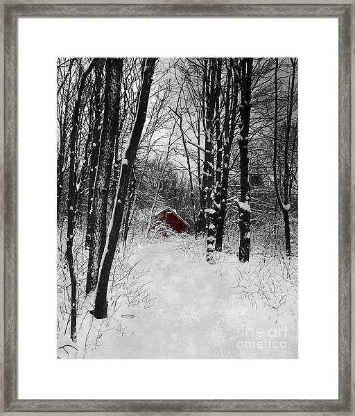 Follow The Snowflake Trail Framed Print
