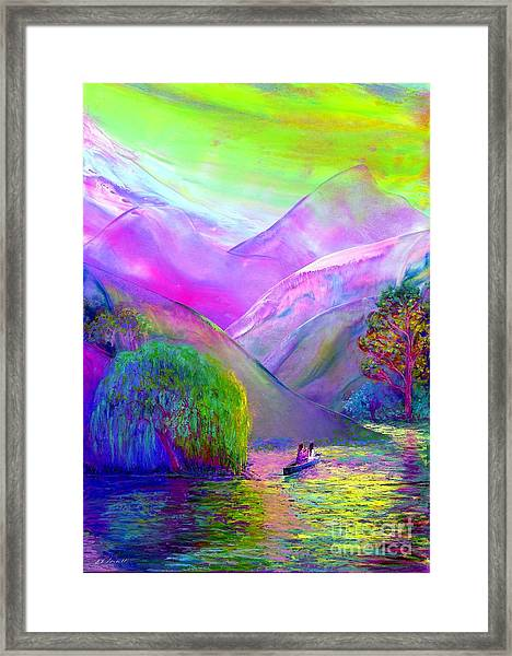 Love Is Following The Flow Together Framed Print