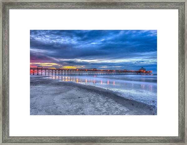 Folly Beach Fishing Pier Framed Print