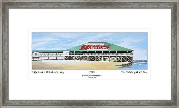 Folly Beach Original Pier Framed Print