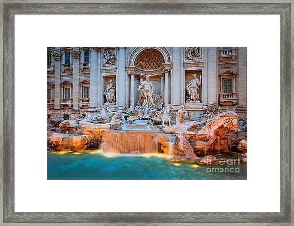 Fontana Di Trevi Framed Print