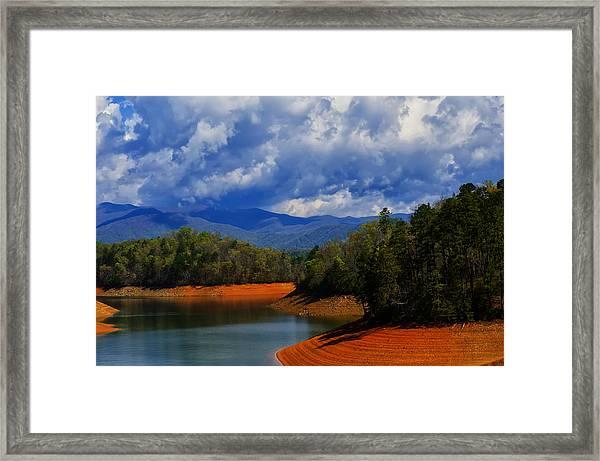 Fontana Lake Storm Framed Print