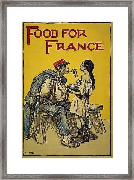 Food For France, 1918 Framed Print