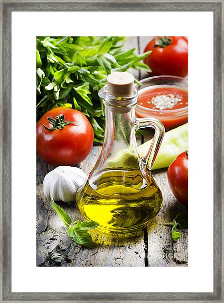 Food Ingredients Framed Print by Jelena Jovanovic