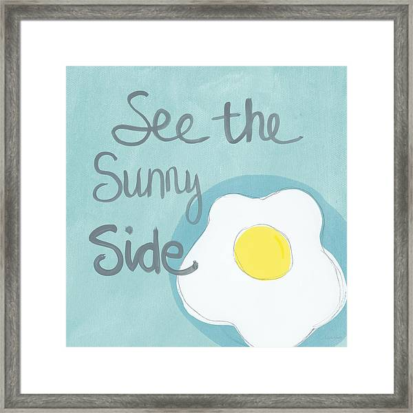 Food- Kitchen Art- Eggs- Sunny Side Up Framed Print