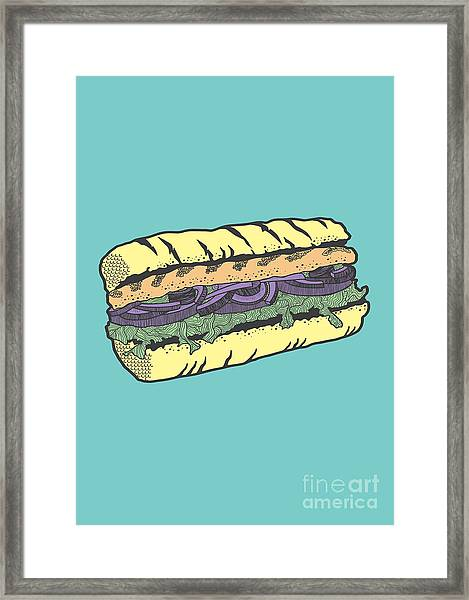 Food Masquerade Framed Print
