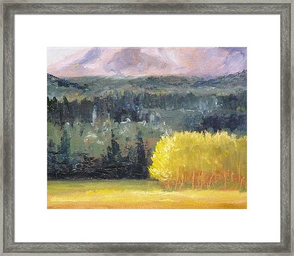 Foot Of The Mountain Framed Print