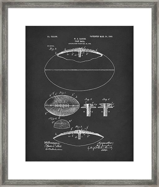 Football 1903 Jacobs Patent Art Black Framed Print