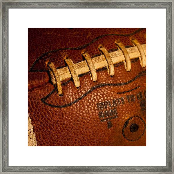 Football Laces Framed Print