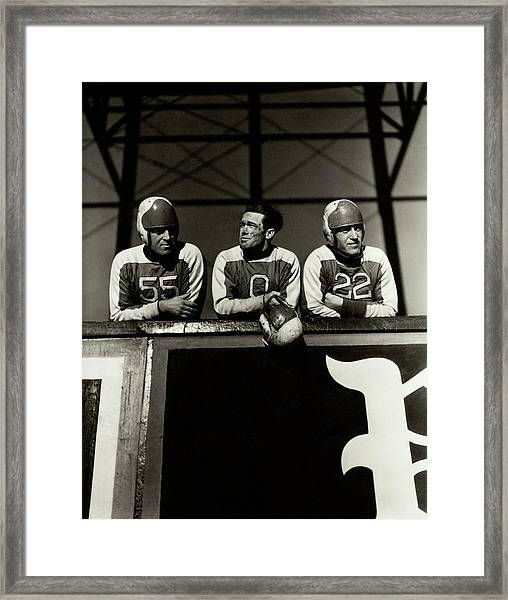 Football Players Framed Print