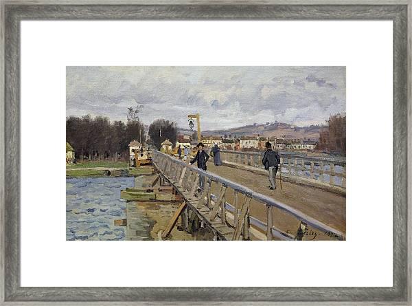 Footbridge At Argenteuil Framed Print