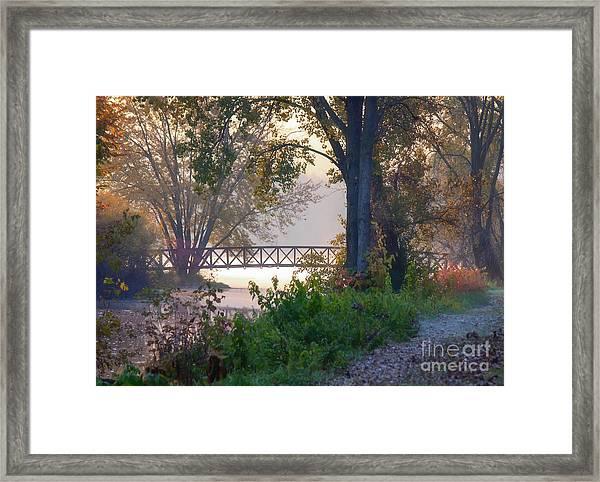 Framed Print featuring the photograph Footbridge II by Kari Yearous