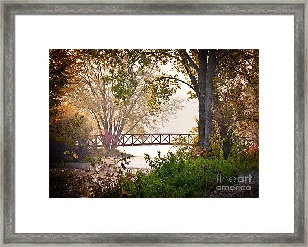 Framed Print featuring the photograph Footbridge by Kari Yearous