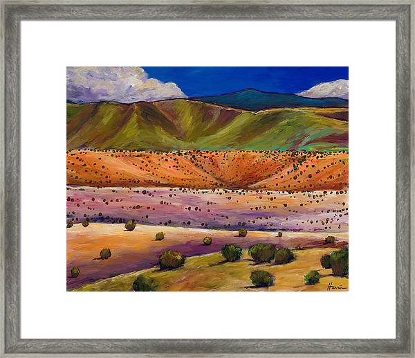 Foothill Approach Framed Print