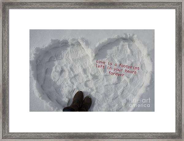 Footprints Framed Print by Nicole Markmann Nelson