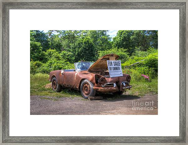For Sale By Owner Framed Print