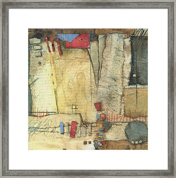 For The Love If Stacking  Framed Print