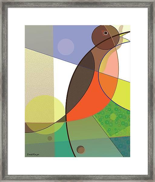 Foraging Robin Framed Print
