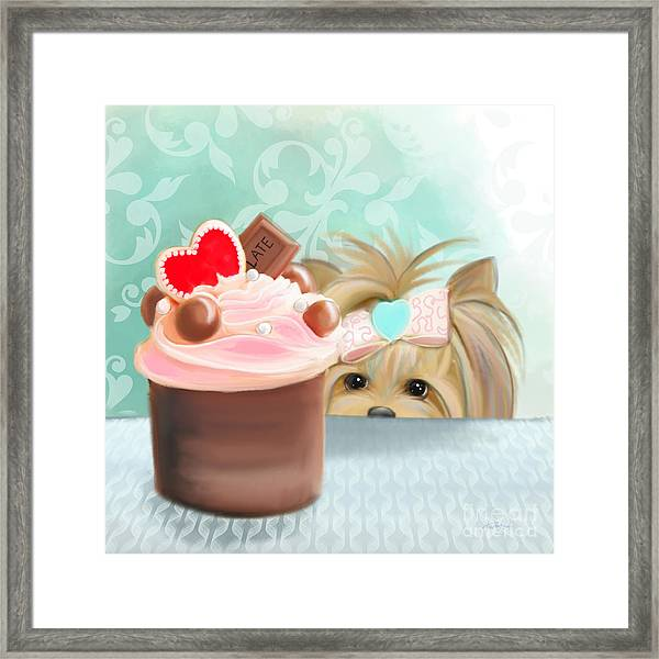 Forbidden Cupcake Framed Print