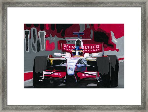 Force India Rising In F1 Monaco Grand Prix 2008 Framed Print