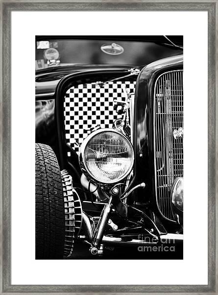 Ford Dragster Monochrome Framed Print