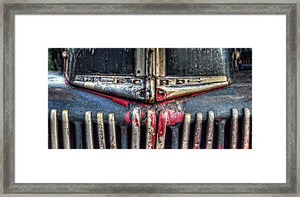 Ford Dump Truck Grille Pan Framed Print