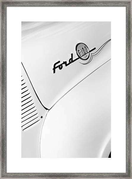 Ford F-100 Pickup Truck Emblem Framed Print