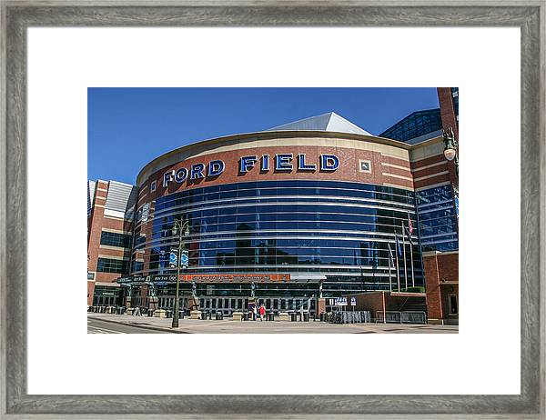 Ford Field  Framed Print