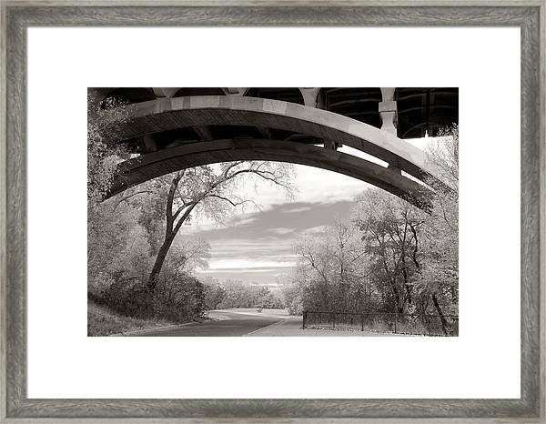 Ford Parkway Bridge Over West River Road In Minneapolis Framed Print