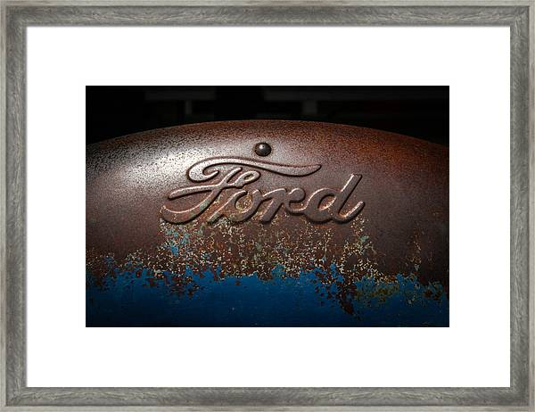 Ford Tractor Logo Framed Print