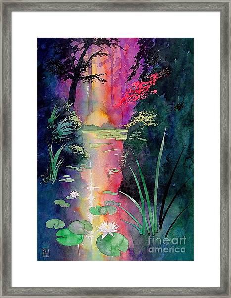 Forest Pond Framed Print by Robert Hooper